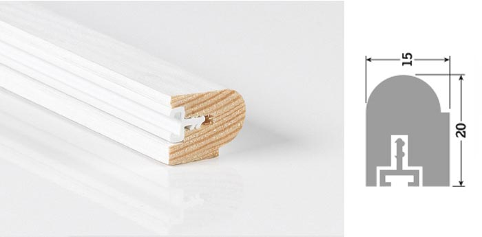 20mm x 15mm 3m Timber Staff Bead Primed (Single Length)