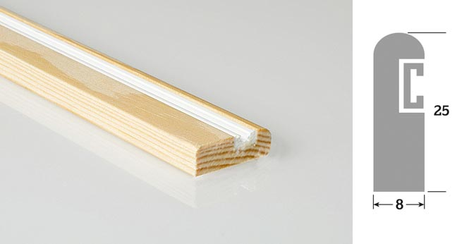 25mm  x 8mm 3m Timber Parting Bead Unprimed (30 Lengths)