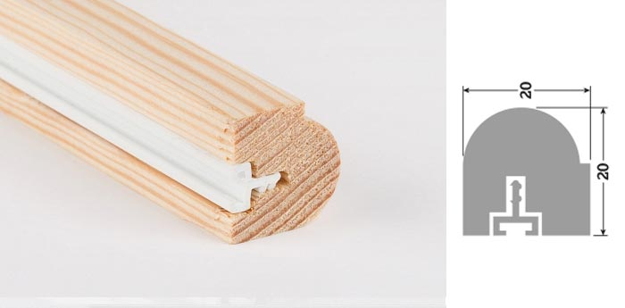 20mm x 20mm 3m Timber Staff Bead Unprimed (30 Lengths)