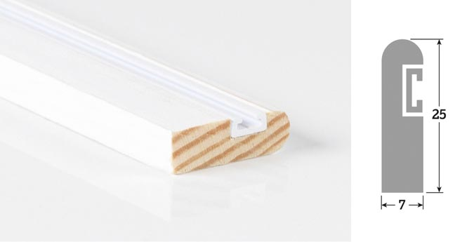 25mm  x 7mm 3m Timber Parting Bead Primed (Single Length)