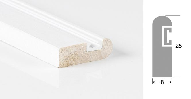 25mm x 8mm 3m Accoya Parting Bead Primed (30 Lengths)