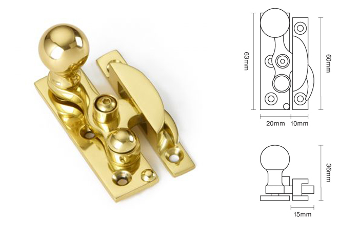 63mm Lockable Claw Fastener- Ball End