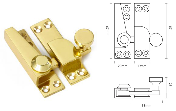67mm Straight Arm Sash Fastener