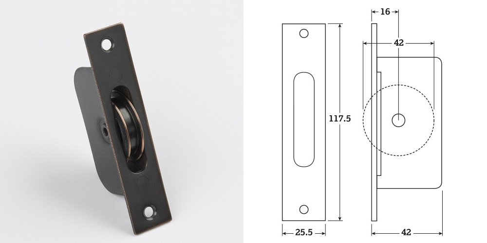 Oil Rubbed Bronze (16) Sash Pulleys 42mm Wheel (50kg Sash) (10 Minimum)