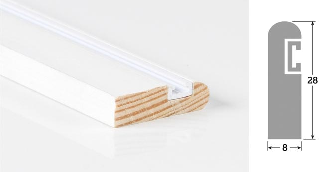 28mm x 8mm 3m Timber Parting Bead Primed (Single Length)