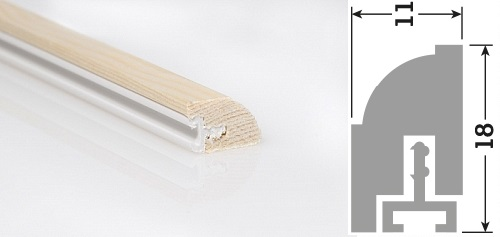 18x11mm 3m FSC® Softwood Timber Door Blade Unprimed (30 Lengths)
