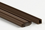 Brown Solid 3m Parting Bead and Channel (30 Lengths)