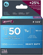 T50 14mm Arrow Staples (1250 Per Box)